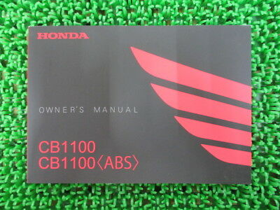 HONDA Genuine Used Motorcycle Instruction Manual CB1100 ABS SC65