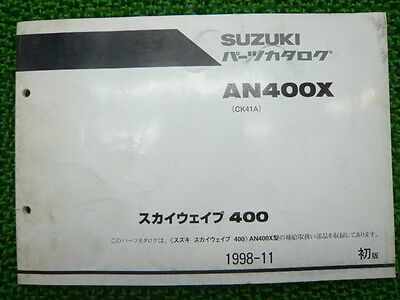 SUZUKI Genuine Used Motorcycle Parts List Sky Wave 400 Edition 1 AN400X CK41A