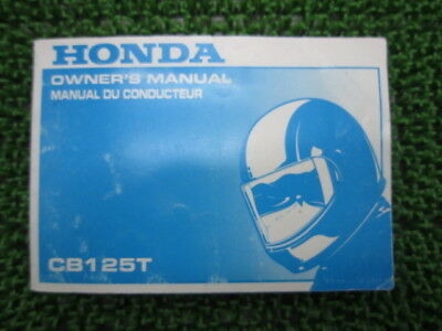 HONDA Genuine Used Motorcycle Instruction Manual CB125T in English