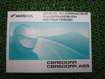 HONDA Genuine Used Motorcycle Instruction Manual CBR600RR ABS