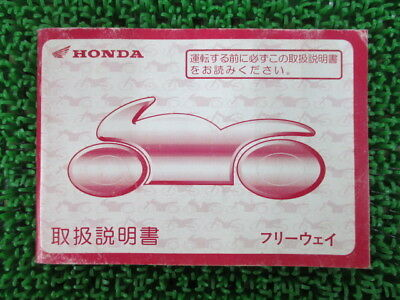 HONDA Genuine Used Motorcycle Instruction Manual Freeway MF03