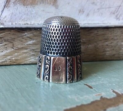 Antique Sterling Silver Gold Wash Thimble by Simons Brothers May 28, 1989