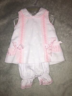 Pretty Originals Baby Girl 0M. White and pink. Immaculate condition!