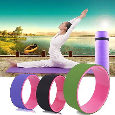 """Yoga Wheel Health&Fitness-Extra Strength Prop with Premium Mat Material 13"""" BA"""