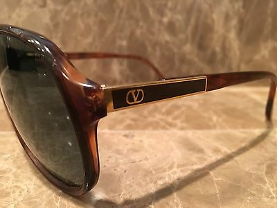 New Old Stock NOS Valentino Sunglasses Italy  Tortoise Brown