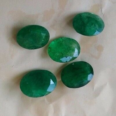 Natural Zambia Emerald Oval Shape Faceted High Cut Grade Quality Loose Gemstones