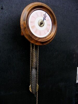 Beautiful Victorian Wag On The Wall / Postmans Alarm Clock