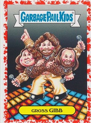 3B GROSS GIBB 2017 Garbage Pail Kids Battle Bands RED/75 POP BEE GEES