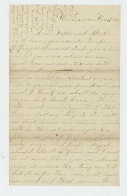Mr Fancy Cancel Civil War Soldier Letter Nov 11 1862 #3159