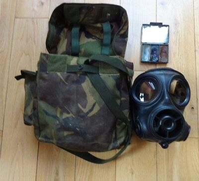 British Army DPM S10 Gas Mask/Haversack Good condition Size 2.+ Pace paint.