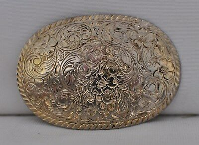 Women's Cowgirl Western Etched Oval Belt Buckle