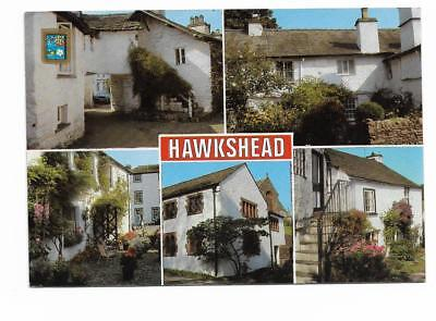 Postcard. 5 Views of Hawkshead. Pub. by Sanderson & Dixon. Mailed in 1989