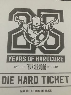 1x Ticket Thunderdome 25 Years Of Hardcore