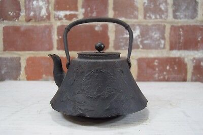 Antique 19th Century Japanese Tetsubin Iron Teapot Kettle