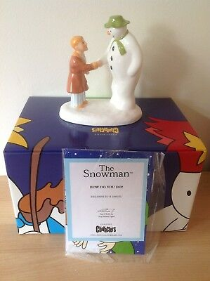 Bnib Coalport China The Snowman Exclusive 'how Do You Do' Figure Figurine - Mint