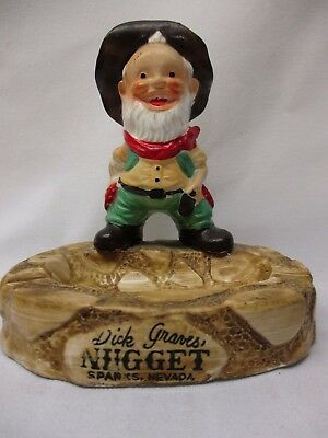 Dick Grave's NUGGET Sparks Nevada casino LAST CHANCE JOE Figural Ashtray~ Japan