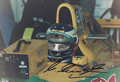 Michael Schumacher original Autogramm auf Foto, Formel 1 Benetton, signed Photo