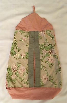 Pink & Green Floral Hanging Diaper Stacker Shabby Chic
