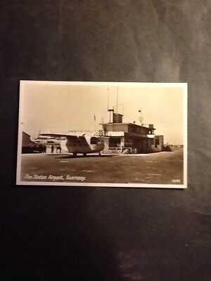 Guernsey Airport old postcard