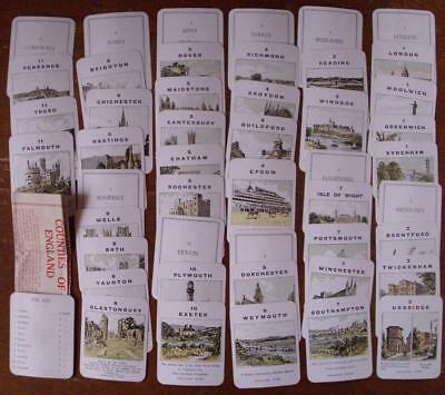 Counties Of England Vintage Card Game By John Jaques, Complete & Boxed