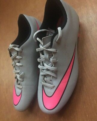 9.5 Nike Mercurial Grey And Pink Men's Football Boots Trainers
