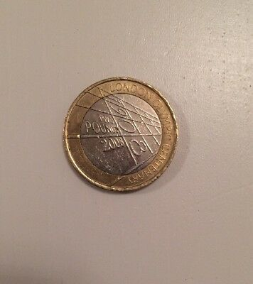 "2008: £2 POUND COIN ""The Centenary of the London Olympic Games of 1908"""