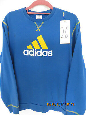 boys adidas age 13/14 sports top l/s blue used (26)