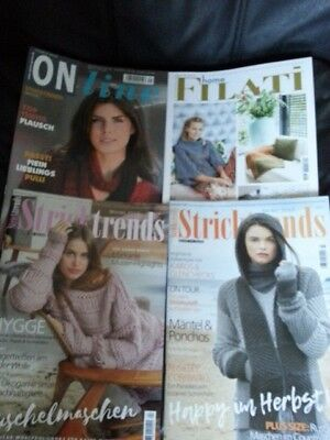 2x Stricktrends Herbst+Winter/17 + Online Stricktrends 49/17 + FILATI home Nr.68