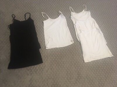 Justice/Soffee Camisole's -  Lot of 6 all size 10 (4 White and 2 Black)