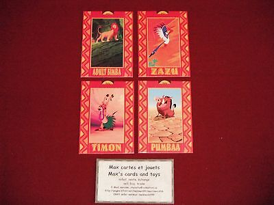 4 Card lot All 1994 Skybox Disney The Lion King all POP-UP INSERT