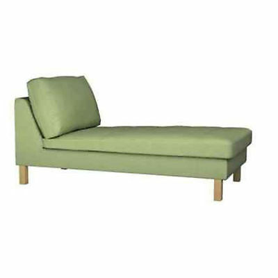 ikea karlstad free standing chaise longue slipcover korndal green