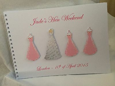 Personalised hen night guest book/ photo album.
