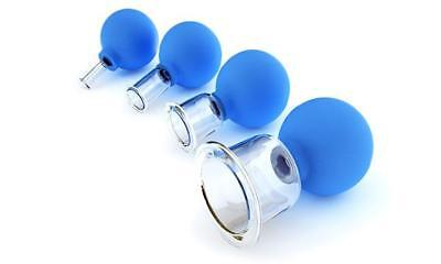 Massage Cupping Set 4 Cups Anticellulite Medical Glas Vacuum Therapy Full Body