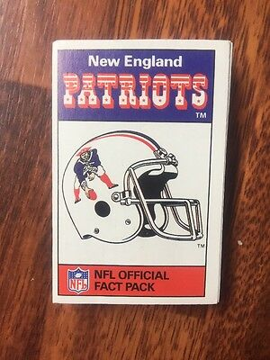 Ace NFL Official FACT Pack New England Patriots 1988
