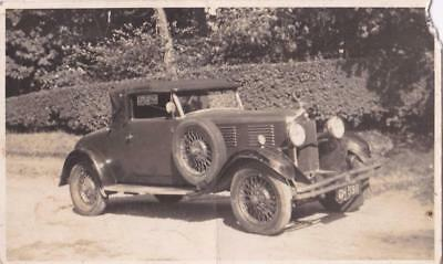 RP VINTAGE  MOTORCAR EARLY MOTORING REAL PHOTO c1930