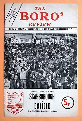 1975/1976 Scarborough v Enfield - FA TROPHY SEMI-FINAL - 27/03/1976