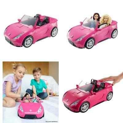 Convertible Pink Car Barbie Glam Doll 2 Mattel Hot Seats Shine Vehicle Girls New