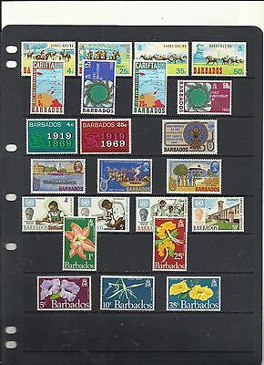 Stockcard of Barbados.  1969-1970.