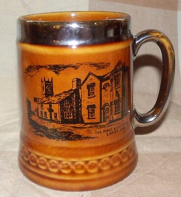 """Lovely vintage Lord Nelson pottery """"The First and Last Inn, Land's End"""" mug"""