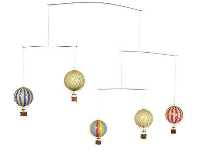 AUTHENTIC MODELS Flying The Skies Hanging Primary Hot Air Balloon Flight Mobile