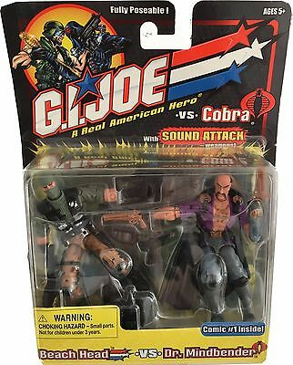 G.I.JOE Fully Poseable Actionfiguren Duo-Pack: BEACH HEAD versus DR. MINDBENDER