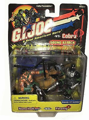 G.I.JOE Fully Poseable Actionfiguren Duo-Pack: NUNCHUK versus FIREFLY