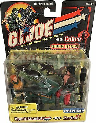 G.I.JOE Fully Poseable Actionfiguren Duo-Pack: AGENT SCARLETT vs ZARTAN