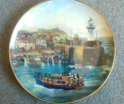 Danbury Mint plate called 'Safe and Sound in St Ives' by Graham Twyford