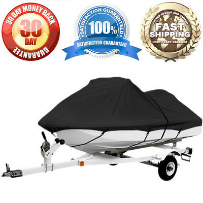 """Universal Personal Watercraft Cover 1-2 Seater Pwc Storage Cover 104""""-115"""" L"""