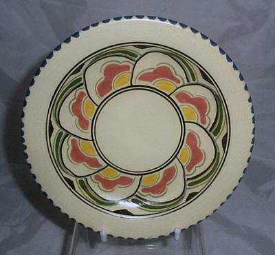Honiton Pottery Eastern Scroll Pattern Side Plate 16cm Dia in White Earthenware