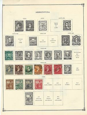 Argentina -  Mostly Used Stamps Collection A Few Stamps Are Mint (1888-1925)
