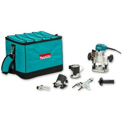 "Makita RTO Router - Trimmer set 1/4"" with set or basic router bits and organisin"