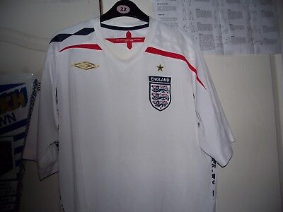 England Home Shirt Size Xl 2007-2009