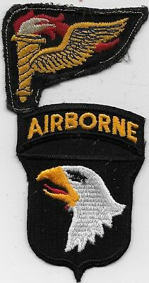 """R/orig Kw/ds (2) """"101St Abn Div/ds, & 101St Abn Pathfinder"""" Patch - B/fully/emb"""